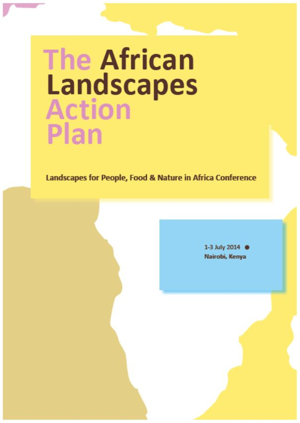 The African Landscapes Action Plan Cover