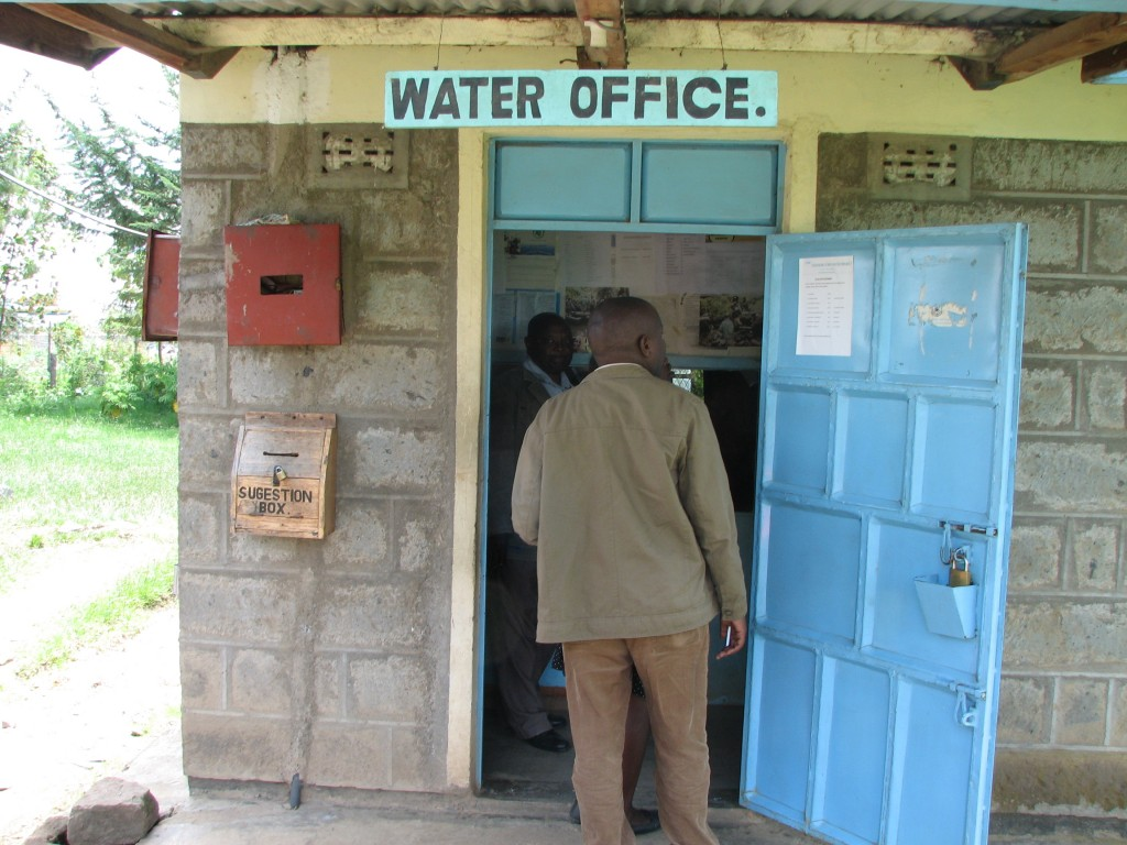 Visiting the water office near Lake Naivasha, Kenya. Photo by Krista Heiner, EcoAgriculture Partners.