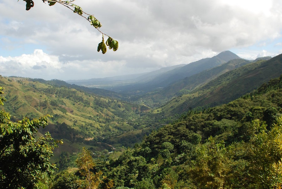 The Yaque Del Norte River Valley near its headwaters at Pico Duarte, Dominican Republic (Meet the region's farmers in this short video http://vimeo.com/17494009.)